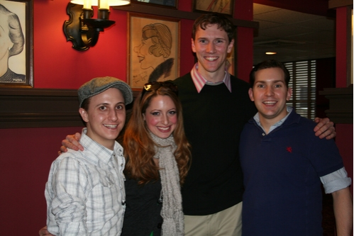 Gypsy cast members; John Scacchetti, Nancy Renee Braun, Matt Gibson and Steve Konopelski at CTFD Between Show Get Together