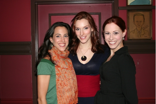 A Chorus Line cast members; Jessica Lea Patty, Emily Fletcher and Heather Parcells