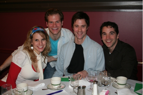 Stephanie Youell (Curtains), Austin Eyer (Curtains), Andrew Fitch (Spamalot) and Joe  Photo