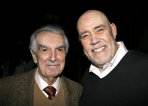 Milo O'Shea and Conrad John Schuck at Curtain Call & After Party for 'Juno'