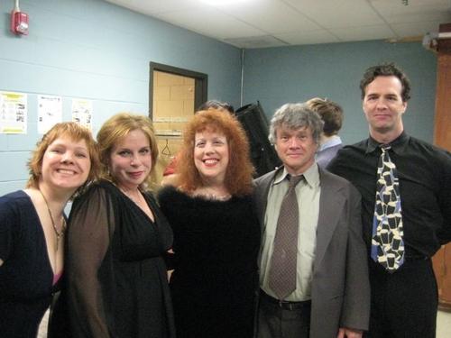 Jennifer Montague, Kelly Ellenwood, Jodi Chekofsky, Ken Jennings and Ciaran Sheehan