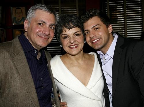 Vinny Fanuele, Priscilla Lopez and Alex Fanuele