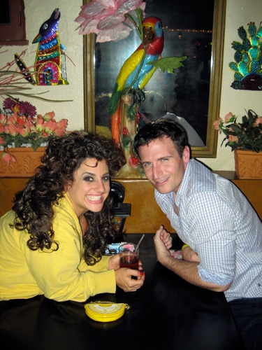 """Marissa Jaret Winokur: """"John Hill and I celebrated my 'not getting the boot' with yummy mexican food. Oh! Maybe that's why I'm not losing weight!"""""""
