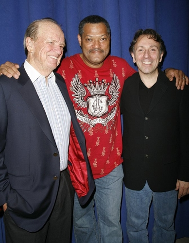George Stevens, Laurence Fishburne and Leonard Foliga