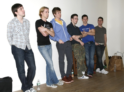 James Gardiner, Adam Halpin, Steven Booth, Nick Blaemire, Andrew C. Hall and Jesse JP Johnson