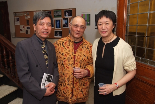 Deputy Ambassador Bui The Giang, Ernest Abuba, Pan Asian Artistic Director Tisa Chang