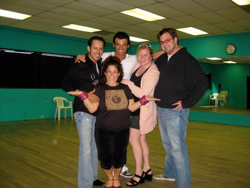 """Marissa Jaret Winokur: """"Win With Winokur! We had an audience at our rehearsal today to help me let loose. You may recognize Broadway diva Cathy Trien. She flew in for support!"""
