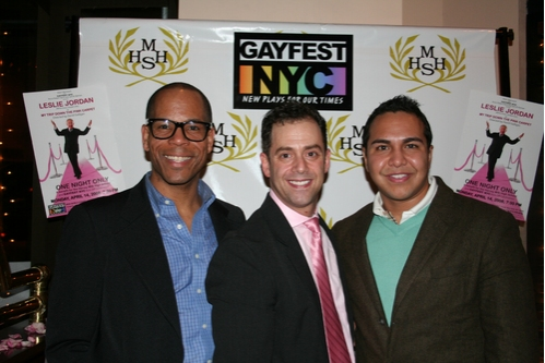 Scott Miller (Communications Officer In The Life Media Inc.), Bruce Robert Harris and Michael Billy (Host, In The Life Media Inc.)