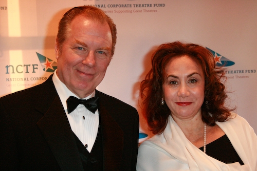 Host Michael McKean and Rena DeSisto (Bank of America)