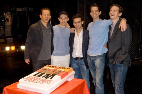 Christian Hoff, Cory Grant, Michael Longoria, J. Robert Spencer and Sebastian Arcelus