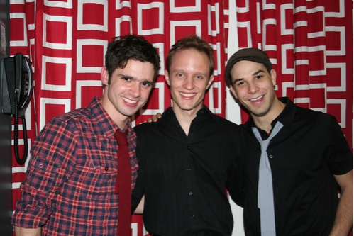 Robb Sapp, Aaron Accurso and Skylar Astin