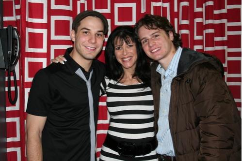 Skylar Astin, Meryl Lipstein and Jonathan Groff