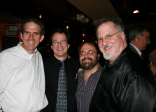 Edward Cumming, musical director, Michael Morris, choral director, Paul Feyer, rehearsal accompanist, and at 'The Music Man' Opening Night Party