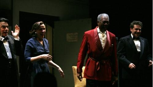 Peter Gallagher, Frances McDormand, Morgan Freeman, and Remy Auberjonois