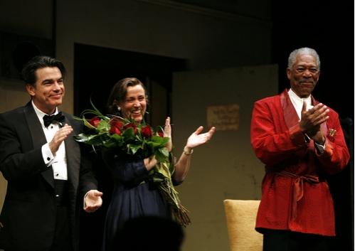 Peter Gallagher, Frances McDormand, and Morgan Freeman