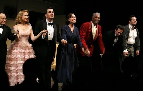 Chip Zien, Anna Camp, Peter Gallagher, Frances McDormand, and Morgan Freeman