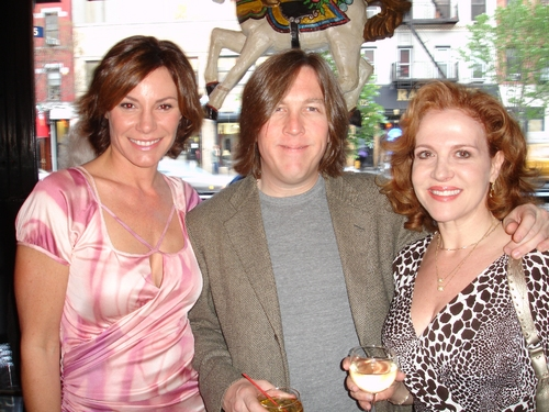 Countess Luann de Lesseps, Mark Mitchell and Anna Bergman