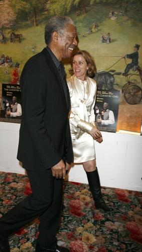 Morgan Freeman and Francis McDormand