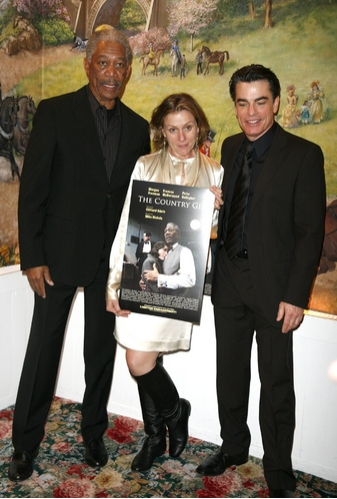 Morgan Freeman, Francis McDormand, and Peter Gallagher