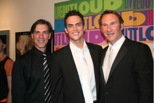 "Angelo Fraboni (Co-Producer ""Celebrity Autobiography; In Their Own Words"", Cheyenne Jackson and Hal Rubenstein (InStyle Magazine)"