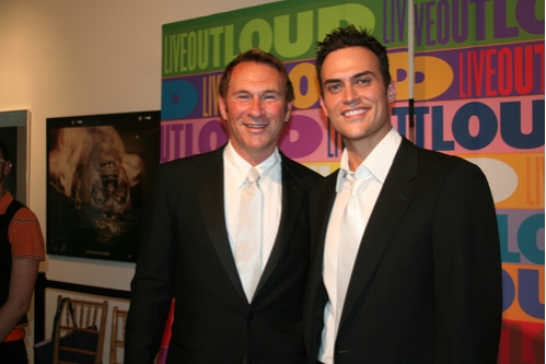 Hal Rubenstein and Cheyenne Jackson