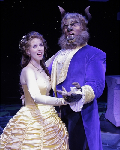 Rena Strober (Belle) and Joseph Mahowald (Beast)