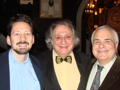 David Sheward, William Wolf and Peter Filichia Photo