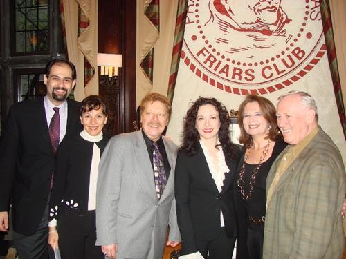 Elias Al-Hoge, Lauren Schneider, Robert R. Blume (Executive Director of the Drama Desk Awards), Bebe Neuwirth, Randie Levine-Miller and Len Cariou