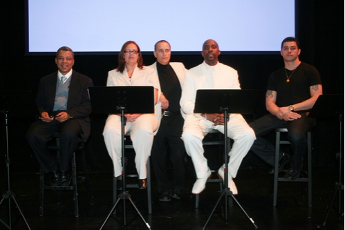Angel Ramos, Vilma Ortiz Donovan, David Rothenberg, Kenneth Harrigan and Casimiro Torres at Fortune Society Hosts Benefit Performance Of The Castle