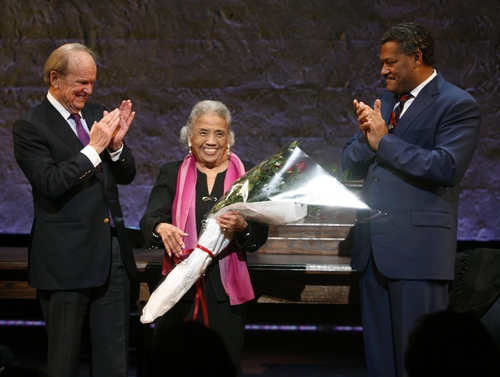 Laurence Fishburne, George Stevens Jr. (Playwright), and Mrs. Thurgood Marshall