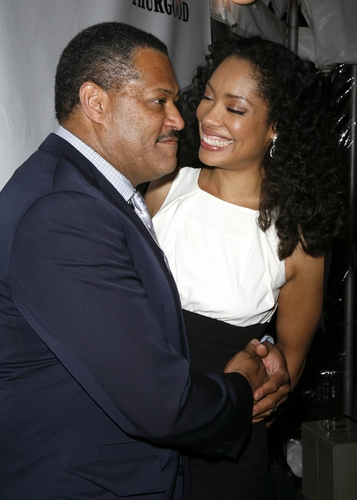 Laurence Fishburne and Gina Torrez