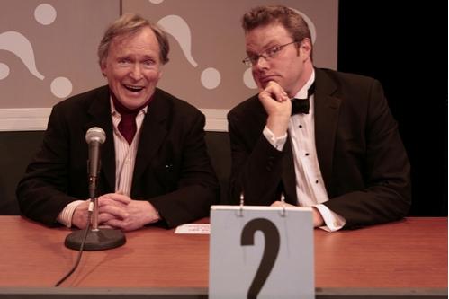 Mystery guest Dick Cavett with host J. Keith Van Straaten