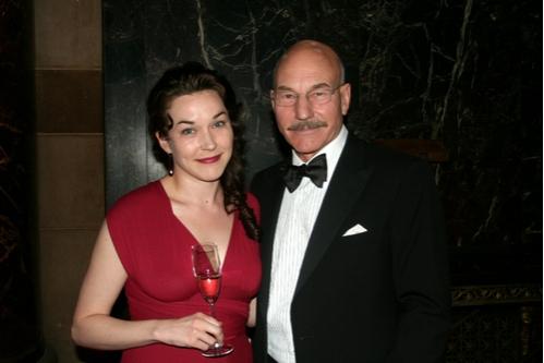 Sunny Ozell and Patrick Stewart