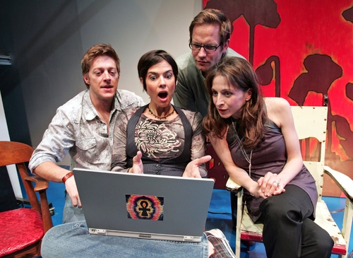 (l. to r.) Kevin Rahm, Nancy Bell, Matt Letscher and Marin Hinkle in the World Premiere of Kate Robin's What They Have
