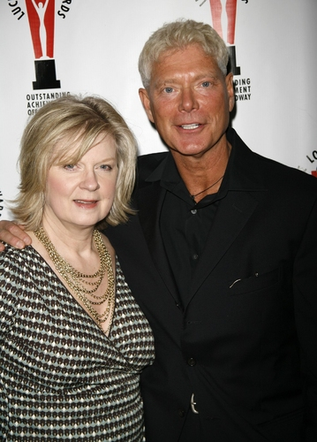 Stephen Lang and wife at 2008 Lucille Lortel Awards
