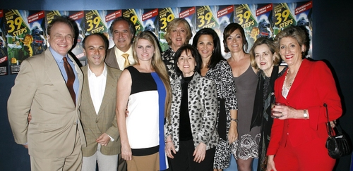Director Maria Aitken with Prodrcers; Douglas Denoff, Roy Gabay, Stewart F. Lane, Bonnie Comley, Harriett Newman Leve, Barbara Manocherian, Marek J Cantor, Jennifer Manocherian, Pamela Laudenslager at 39 STEPS Opening