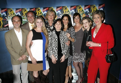 Roy Gabay, Stewart F. Lane, Bonnie Comley, Maria Aitken, Harriett Newman Leve, Barbara Manocherian, Marek J Cantor, Jennifer Manocherian, Pamela Laudenslager at 39 STEPS Opening