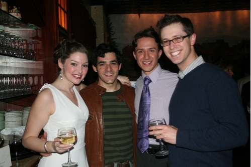 Leah Edwards, David Baum, Zak Edwards and Ryan Malyar at Encores! No, No Nanette's Final Performance