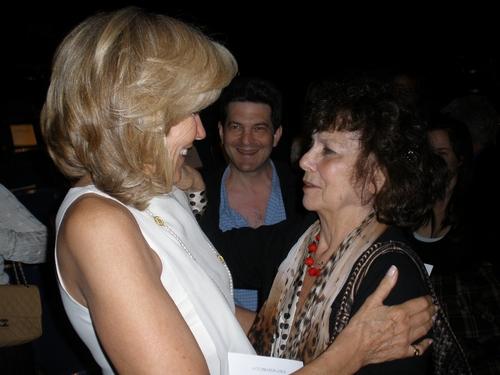 Brenda Siemer Scheider greets Ellen Adler