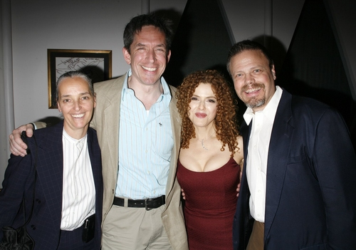 Bernadette Peters with her longtime assistant Patty Saccente along with fellow Broadway Barks