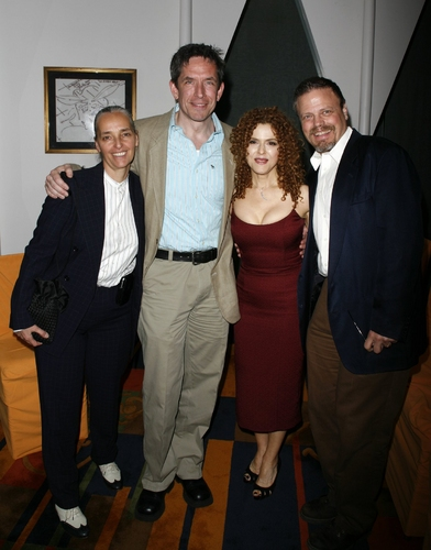Bernadette Peters with her longtime assistant Patty Saccente along with fellow Broadway Barks Producers Richard Hester and Scott T. Stevens
