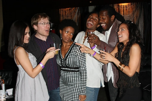 Andrea Goss, Shaun Earl, Anthony Rapp, Trisha Jeffrey, Marcus Paul James and Karmine Alers at Photo Coverage FLASHBACK: RENT Seasons of Love:Big Give Benefit Party