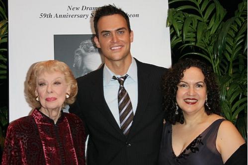 Joyce Randolph, Cheyenne Jackson, and Olga Merediz