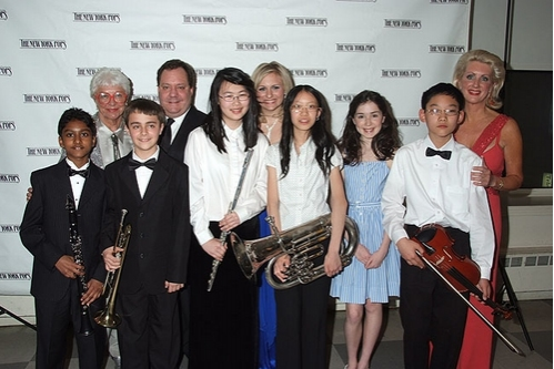 Ruth Henderson, James Nederlander, Haley Swindal, Jennifer Steinbrenner Swindal and Performers from the Gala