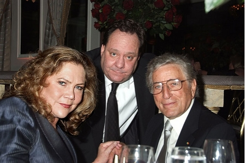Kathleen Turner, James Nederlander and Tony Bennett