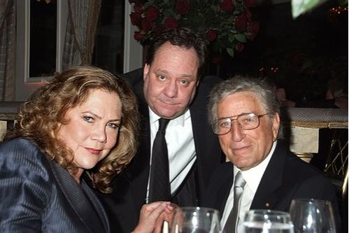 Kathleen Turner, James Nederlander and Tony Bennett
