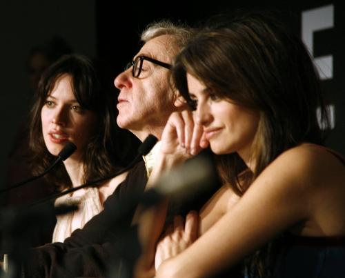Rebecca Hall, Woody Allen, and Penelope Cruz Photo