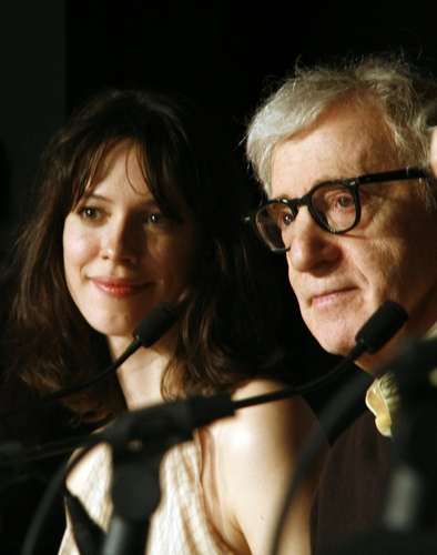 Rebecca Hall and Woody Allen