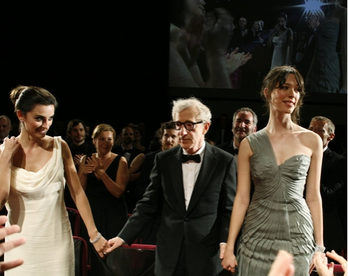 Penelope Cruz, Woody Allen, and Rebecca Hall
