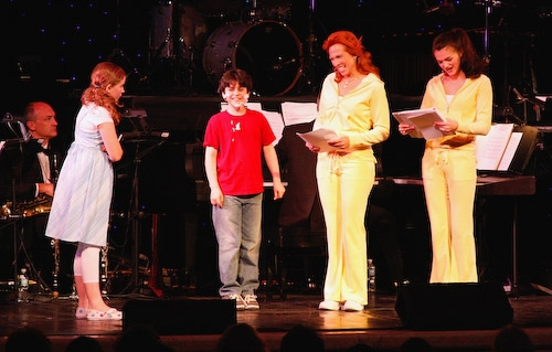 Lila Coogan, Matthew Gumley, Carolee Carmello, and Audrey Twitchell